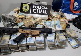Polícia prende quatro pessoas e apreende cerca de R$ 500 mil na PB