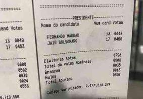 Boletins de urnas já começam a rodar pelas redes sociais