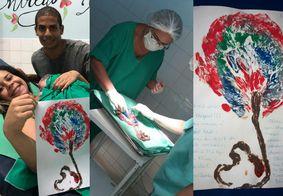 Arte em placenta vira lembrança para pais em hospital de João Pessoa; confira