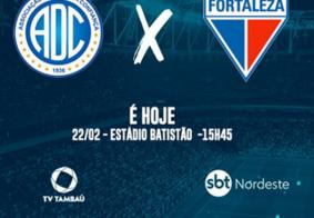 TV Tambaú transmite ao vivo partida entre Confiança e Fortaleza, pela Copa do Nordeste