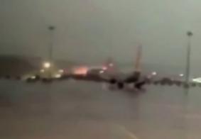 Vídeo: veja o momento em que avião sai da pista antes de se partir ao meio