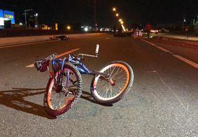 Ciclista é vítima de atropelamento por moto e morre em João Pessoa