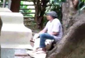 Homem é flagrado por vizinhos estuprando cachorro no DF