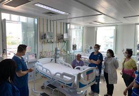 Leitos no Hospital Santa Isabel, em João Pessoa