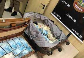 Polícia apreende malas com mais de R$ 1 milhão em espécie dentro de táxi no Tocantins