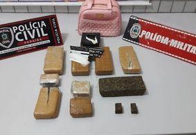Justiça da PB condena homem que foi preso com 9 tabletes de maconha na bolsa da filha