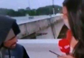 Vídeo: repórter da CNN é assaltada ao vivo por homem armado com faca