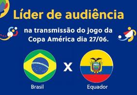 SBT foi líder de audiência na transmissão de Brasil x Equador