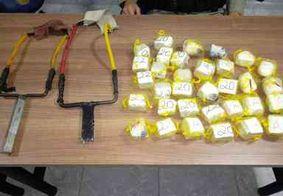 Jovens são presos com baleadeiras e drogas em frente a presídio na PB