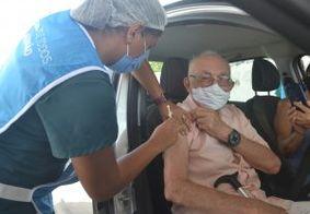 Idosos de 80 anos poderão se vacinar nesta sexta-feira (5), em João Pessoa