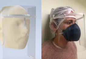 Coronavírus: UEPB desenvolve protetor facial para doar a profissionais de saúde
