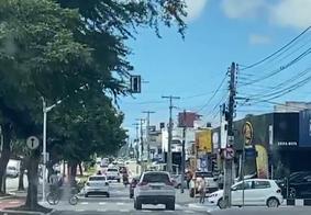 Semáforos ficaram inoperantes ao longo do dia