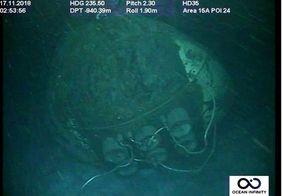 Argentina divulga as primeiras imagens de submarino encontrado após um ano de buscas