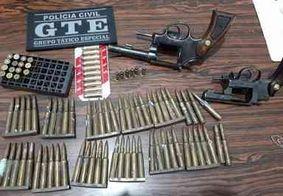 Polícia apreende armas e munição de fuzil no interior da PB