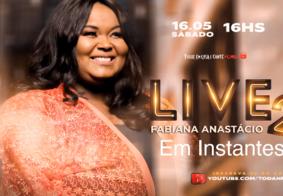 Cantora gospel Fabiana Anastácio chegou a fazer duas Lives durante a pandemia; assista