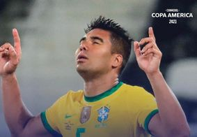 Casemiro, autor de um dos gols da seleção brasileira