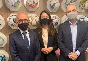 Cícero, Michelle Ramalho e Manoel Flores