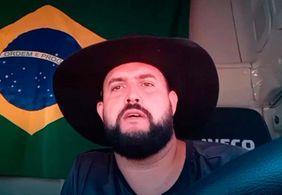 """Em vídeo, Zé Trovão diz que se entregou à polícia: """"Foi pelo Brasil"""""""