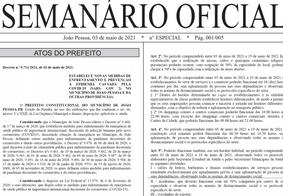 Semanário Oficial traz novas alterações