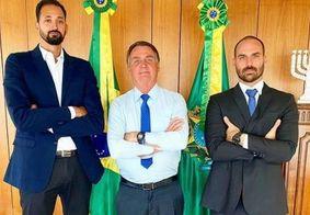Maurício Souza, Jair Bolsonaro e Eduardo Bolsonaro