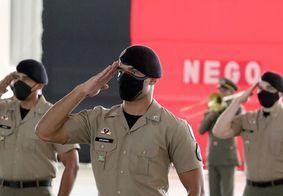 Solenidade de conclusão do curso de formação de soldados da Polícia Militar (PM) e do Corpo de Bombeiros, no início deste mês