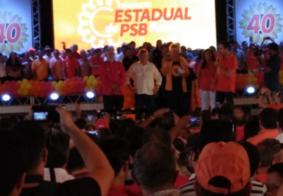 """Vídeos: """"É lapada. Vamos vencer de goleada"""", diz Ricardo Coutinho em convenção do PSB"""