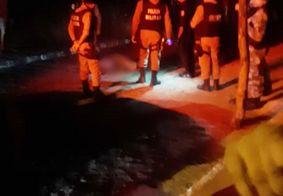 Local do homicídio em Patos, na noite deste sábado (7).