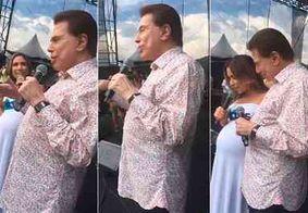 Sílvio Santos aparece em festa do SBT e dá explicações sobre demissões na emissora