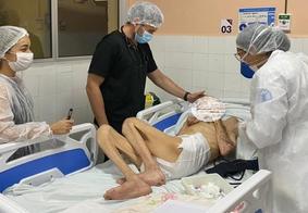 Idosos foram resgatados e encaminhados a hospitais e serviços de saúde
