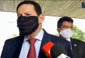 Vice-presidente Hamilton Mourão está com Covid-19 e em isolamento