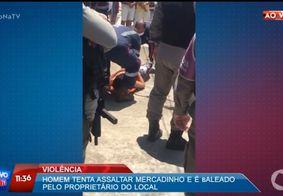 Assaltante é baleado durante luta corporal com vítima em comércio, na Grande João Pessoa