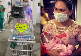 Na PB, bebê recém nascido recebe alta após diagnóstico de Covid-19; confira