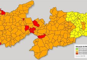 Bandeira Laranja volta a predominar nos municípios paraibanos