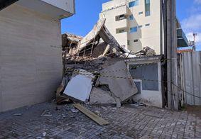 Órgãos vão investigar desabamento de prédio em João Pessoa; veja como ficou o local