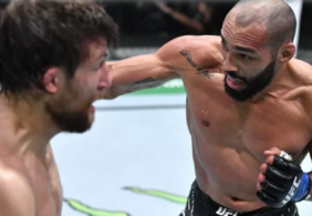 Paraibano nocauteia americano e sai premiado no UFC Vegas 40