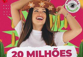 Juliette ultrapassa 20 milhões de seguidores e equipe pede doações