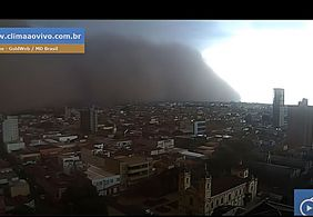 Vídeo | Tempestade de areia atinge cidades do interior de São Paulo