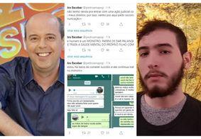 Filho de Alex Escobar revela ter tentado suicídio por causa do pai