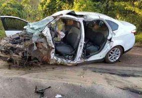Pai e filha morrem em grave acidente em rodovia federal