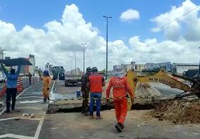 O acidente aconteceu entre as Praias de Intermares e do Poço, na manhã desta quarta-feira (27).