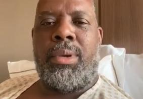 """Hospitalizado, Péricles grava vídeo para tranquilizar fãs: """"Não tive falta de ar"""""""