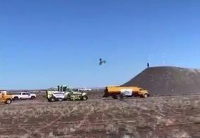 Vídeo | Piloto morre após tentar bater recorde mundial de salto