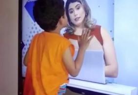 Vídeo: Karine Tenório visita telespectador mirim do Tambaú da Gente