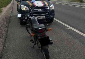 PRF recupera moto roubada com adolescente de 14 anos, na Grande João Pessoa