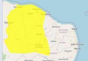 Inmet prorroga alerta de chuvas fortes para 25 cidades do Sertão
