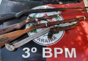 Polícia Militar apreende quatro armas de fogo com suspeito no Sertão da PB