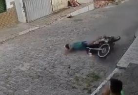 Queda de moto registrada no bairro do Grotão, em João Pessoa