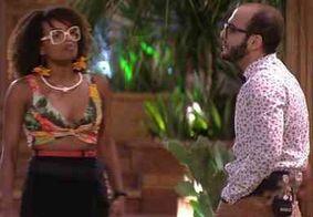 Nayara leva fora de Mahmoud ao tentar conversar antes do resultado do paredão