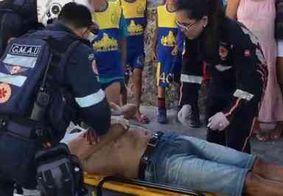 Homem adormece em viaduto, despenca e acaba se ferindo, em João Pessoa