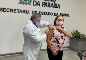 Enfermeira recebeu a segunda dose